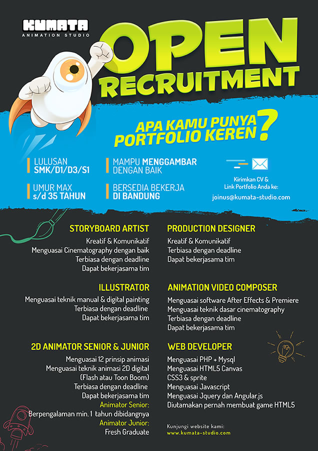 Open Recruitment Kumata Studio